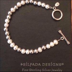 Silpada Sterling Silver freshwater pearl bracelet